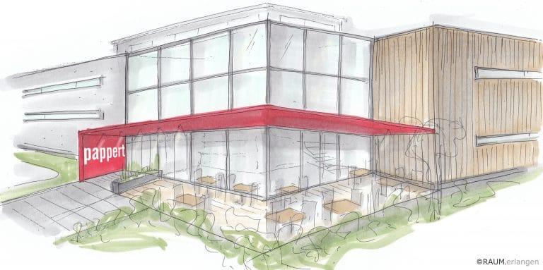 PAPPERT 4.0: CAFÉ MIT BLICK INS BACKHAUS